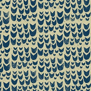 Home Tulips Navy Tailored Cloth