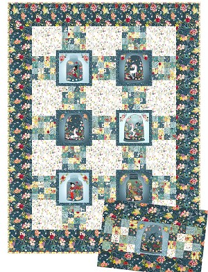 Mermaids and Unicorns Quilt & Pillow Pattern
