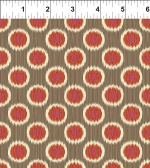 Mini Ikats Rust Circles