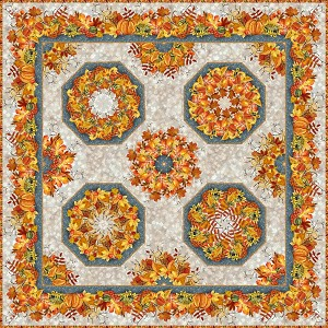 Our Autumn Friends Kaleidoscope Wallhanging Pattern