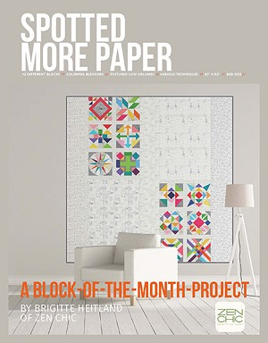 Spotted More Paper Quilt Pattern A Block of the Month Project
