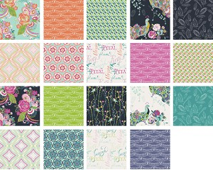 Petal & Plume Fat Quarter Bundle - 19 Piece