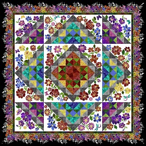 Rainbow of Jewels BOM Applique Quilt Kit