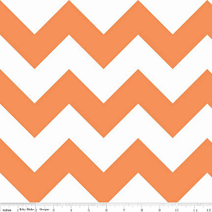 Large Chevron Orange