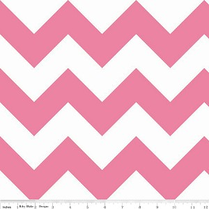Large Chevron Hot Pink