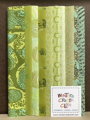 Remix Fat Eighth Bundle GREEN 11