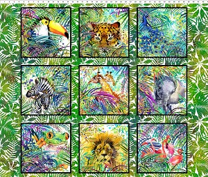 Safari Animal Panel