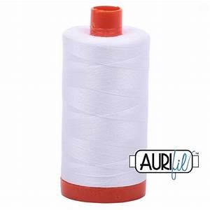 Aurifil White Cotton 50wt Thread
