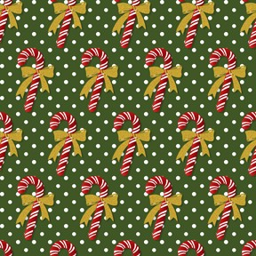 Winter Elegance Green Candy Cane
