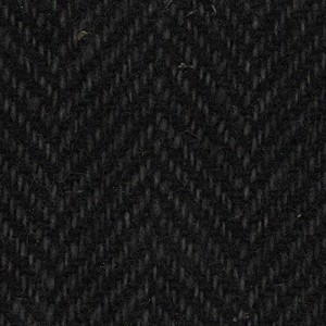 Wool Fat Quarter Black Herringbone